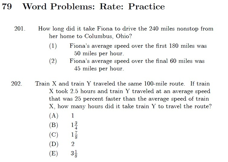 gmat hacks rate problems pg 148