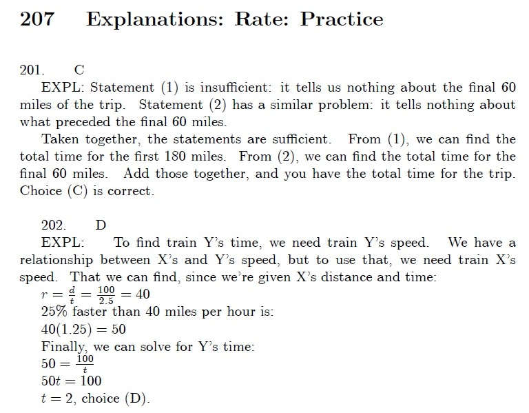 gmat hacks rate problems explanations